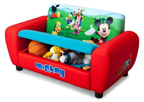 mickey mouse sofa bed mickey mouse upholstered sofa with storage delta