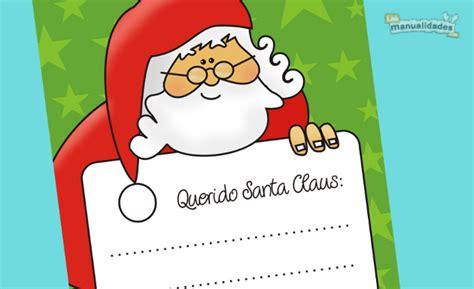 imagenes de cartas a santa claus navidad navidad carta a santa claus para imprimir y colorear