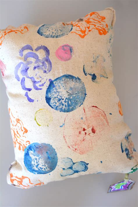 What Is The Pillow Made Of by No Sew Kid Made Vegetable Print Pillows Meri Cherry