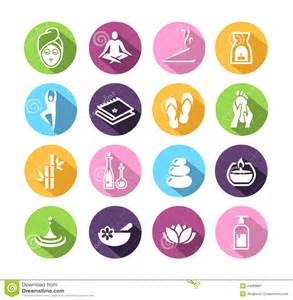 Kitchen Design Websites Wellness Icons In Flat Design Style Stock Vector Image