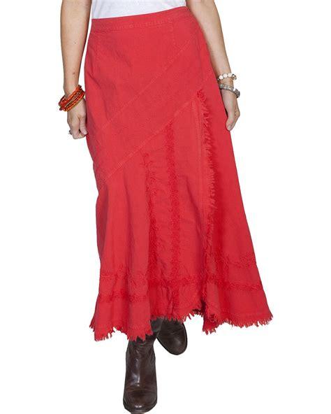 scully s embroidered western skirt psl 123 vlt ebay