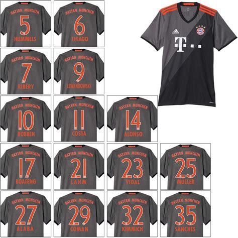 Bayern Muenchen Away adidas fc bayern m 252 nchen away ausw 228 rtstrikot mit flock