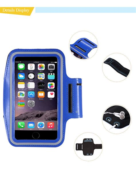 Neoprene Material Sports Armband Key Storage Iphone 4 4s Ze Ad204 10pcs lot i6 waterproof sport armband cell phone for