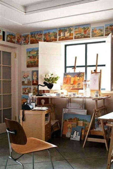home studio decor 4款创意的儿童画室布置效果图 家庭儿童美术画室一角布置设计图 秀居网