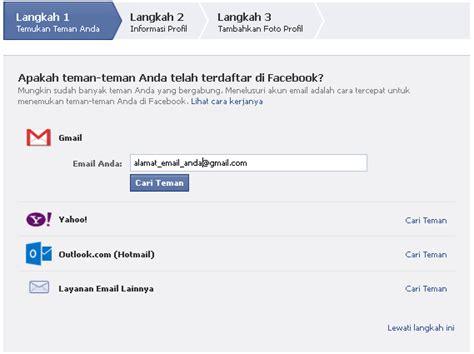 cara membuat akun facebook sekolah cara membuat facebook baru daftar akun fb belajar