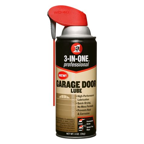 Lubricant For Garage Door 3 In One 100584 Professional Garage Door Lubricant Spray 11 Oz Pack Of 1