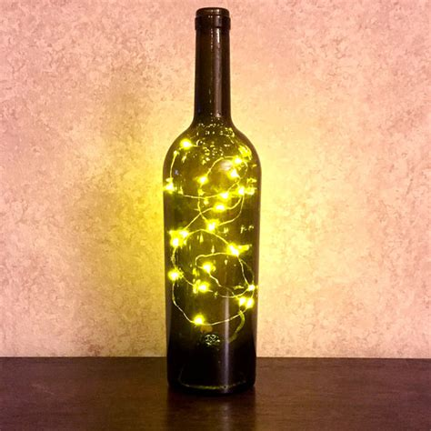 wine bottle battery operated lights wine bottle with twinkle fairy battery powered lights