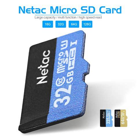 Micro Sd Card 128gb Class 10 original netac micro sd card class 10 16gb 32gb 64gb 128gb uhs i flash memor 487 ebay