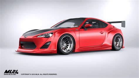 frs scion body kit ml24 scion fr s toyota gt86 version 2 wide body kit