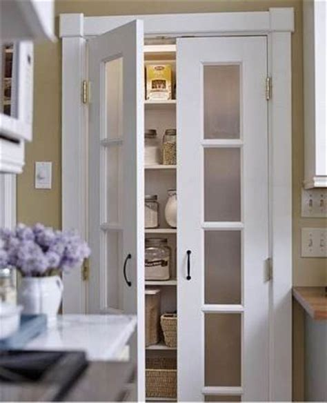 half doors with frosted glass pantry light bright