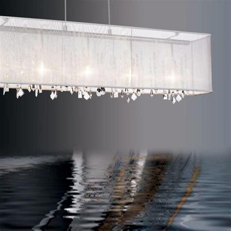 Rectangular Shade Chandelier Rectangular Chandelier Organza Shade Light Fixtures Design Ideas