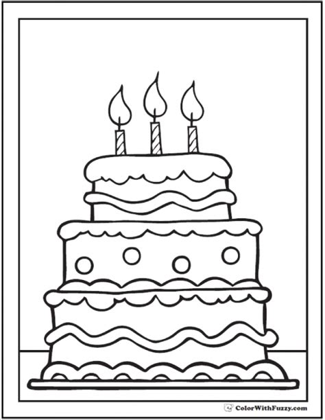 free coloring page of a cake get this free cake coloring pages for toddlers p97hr