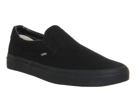 Black Master Boots Slip On Black vans classic slip on trainers black mono unisex sports