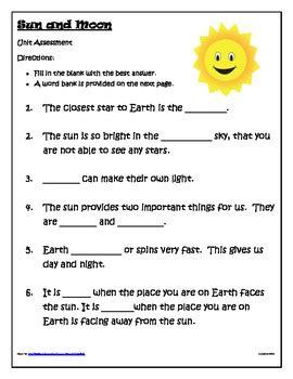 Sun Worksheets For First Grade Bluegreenish