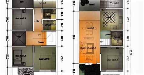 denah new denah rumah minimalis dan ukuran