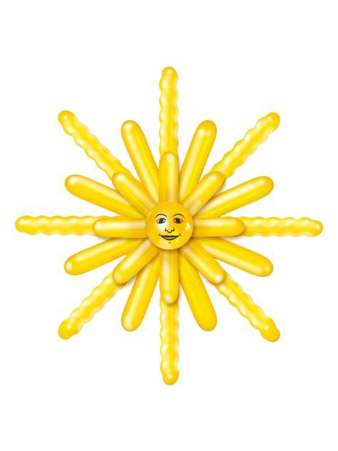 sonne deko luftballon set sonne deko 24 teilig gelb 120cm