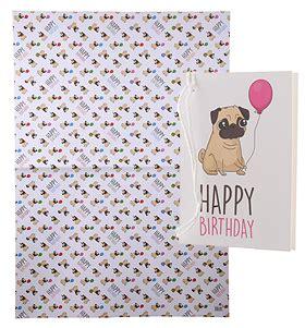 pug gift wrap pug happy birthday gift wrap sheet gift tag i pugs
