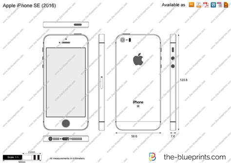 dwg format iphone apple iphone se vector drawing