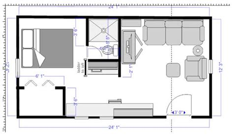 One Bedroom Mobile Home Floor Plans by Florida Cracker Cabin