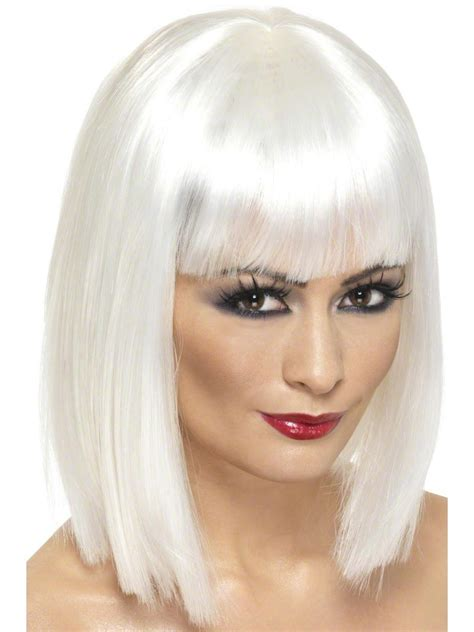 blonde bob halloween costumes glam wig white short 42144 fancy dress ball