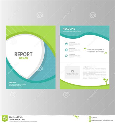 layout of a marketing report blue green annual report brochure flyer presentation