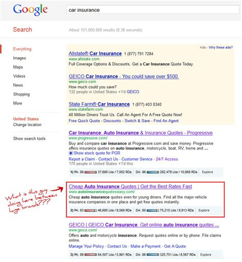 Car Insurance Finder by How Garbage Ranks In The Serps A Study Moz