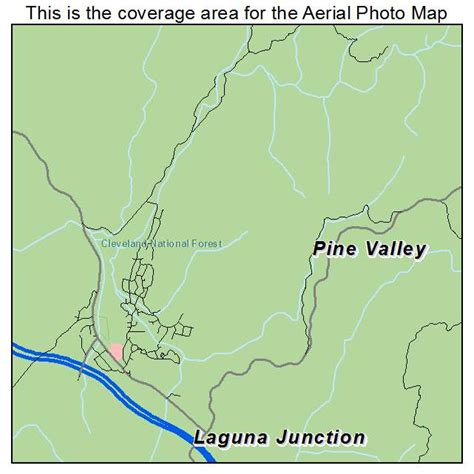 california map valley aerial photography map of pine valley ca california