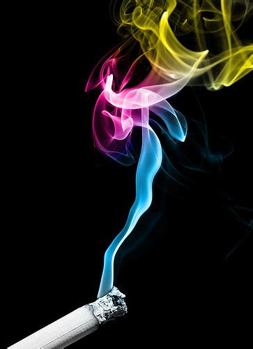 colored cigarette smoke cempedakmalaya wordless wednesday rainbow colored