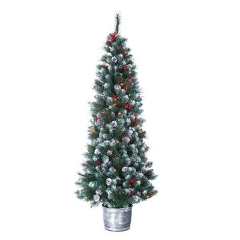 6 ft pre lit frosted winterberry artificial pine