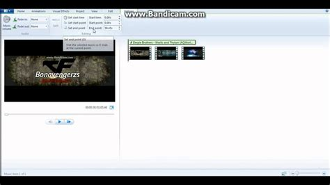 windows live movie maker tutorial trim tool how to cut music in windows live moviemaker youtube