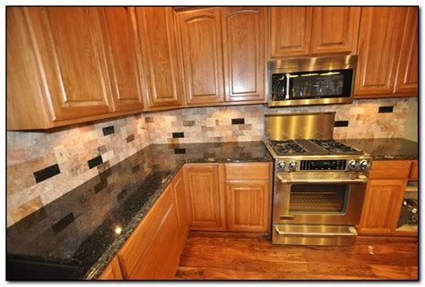 ideas for kitchen countertops and backsplashes kitchens with granite and backsplash matching countertop