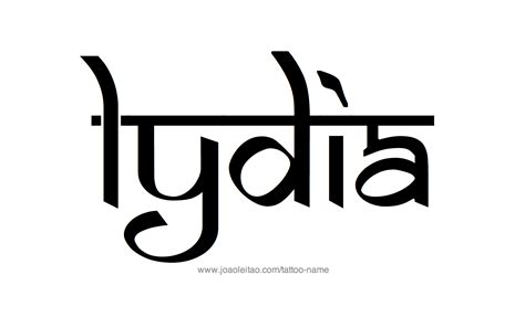 lydia tattoo lydia name designs
