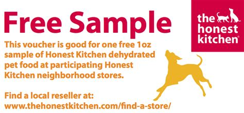 the honest kitchen free 1oz sle of deyhdrated pet food