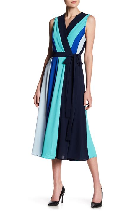Shopping Colour Block Scarf Dress by Eci Faux Wrap Colorblock Dress Nordstrom Rack