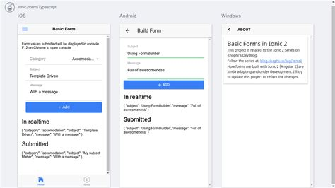 ionic template new changes ionic 2 forms with exles
