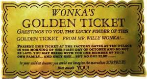 Willy Wonka Golden Ticket Template by The Rev D Newman Sermon Golden Ticket