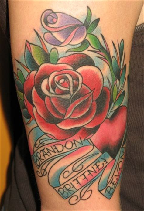 heart and roses tattoos hearts and roses tattoos and roses on