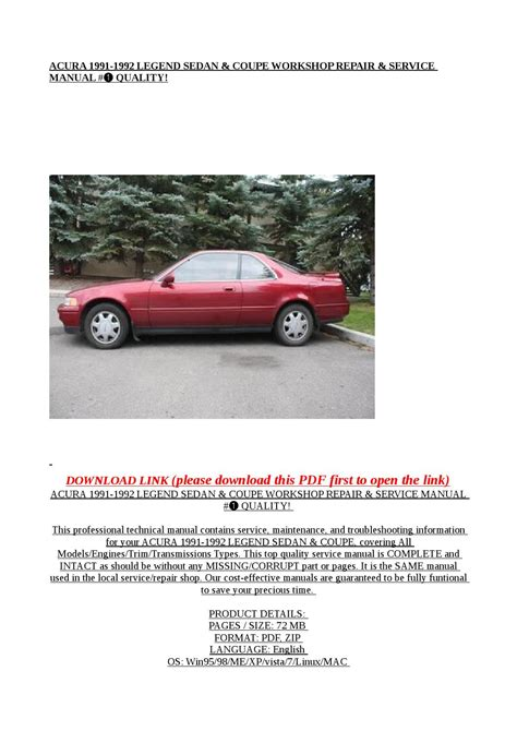 best auto repair manual 1993 acura legend transmission control acura 1991 1992 legend sedan coupe workshop repair service manual quality by exo issuu