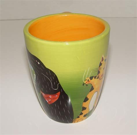 Hand Painted Mug Design   dog and cat mary naylor design hand painted mug mugs cups