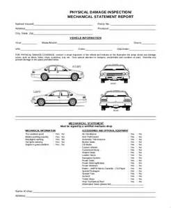 vehicle damage report form template vehicle inspection checklist template free vehicle