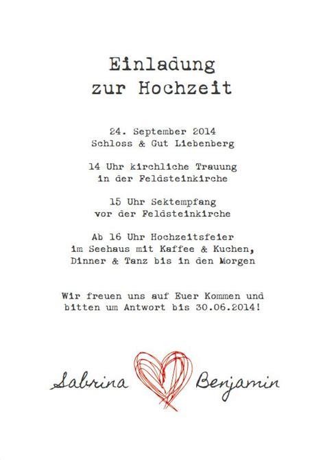 Hochzeitseinladungen Schlicht Modern by Hochzeitseinladung Alte Schreibmaschine Ideen Hochzeit