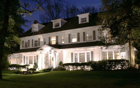 1000 images about center hall colonial on pinterest this center hall colonial looks stunning at night with