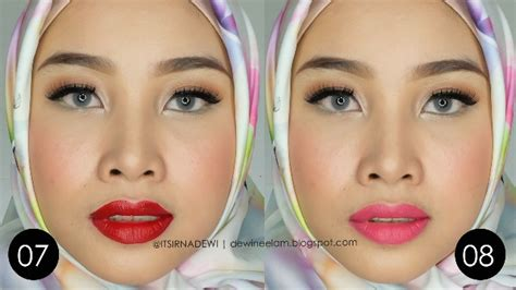Kisaran Lipstik Wardah dewi neelam by irna 12 exlusive matte lipcream wardah swatches and review