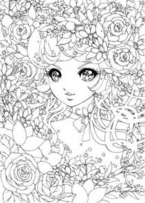 detailed coloring pages detailed japanese shoujo colouring pages printables