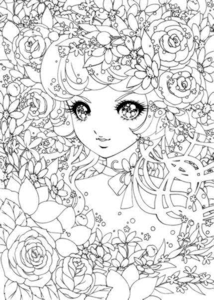 coloring pages for adults cute detailed japanese shoujo colouring pages printables