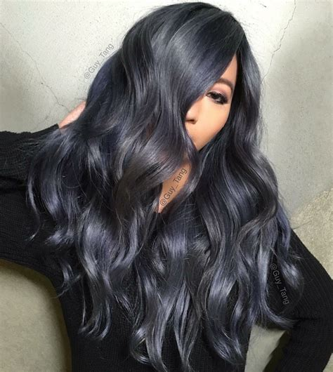 black grey hair dark grey hair color idea 2017 hair pinterest dark