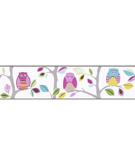 Hello Wallpaper Sticker Hello 5m bright owls self adhesive wallpaper border