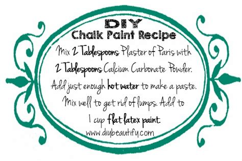 chalk paint recipe calcium carbonate how to make diy chalk paint using store sles diy beautify