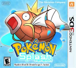 pokemon splash version nintendo 3ds box art cover spham9