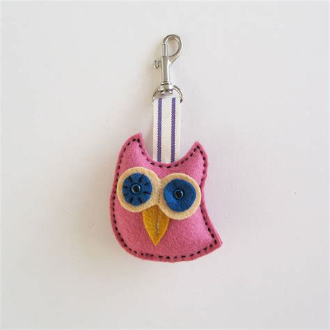 Handmade Owl - handmade owl key ring by thebigforest notonthehighstreet